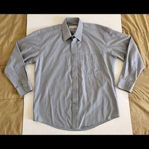 Yves Saint Laurent YSL Gray Shirt Mens Sz 16 32/33